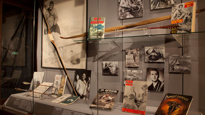 A display at the Archery Hall of Fame and Museum