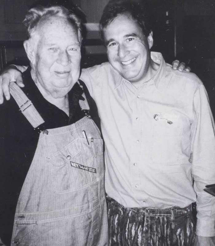 Johnny with his father John A. Morris