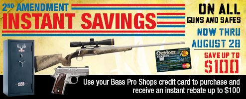 2nd Amendment Savings on All Guns and Safes – Now thru August 28