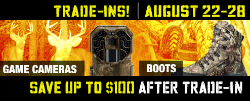 Game Camera & Boots Trade-Ins!