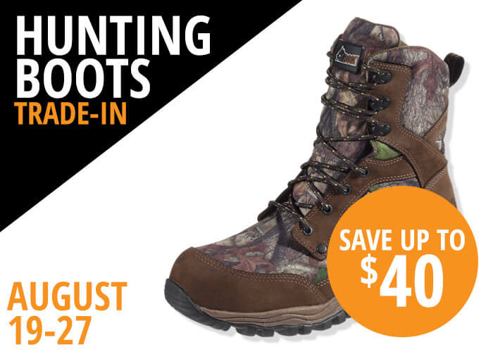 Hunting Boots Trade In August 19-27