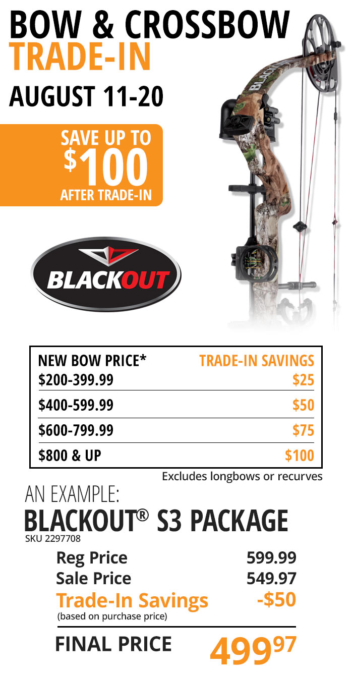 Crossbow & Bow Trade In August 19-27