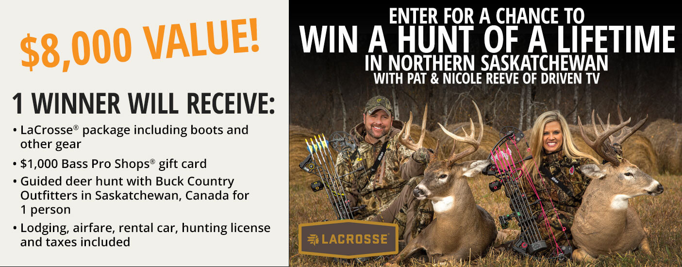 Wnter for a chance to win a hunting trip