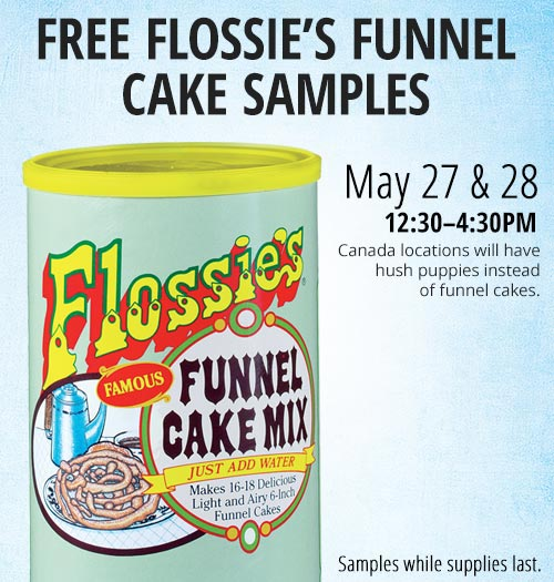 FREE Flossie's Funnel Cake Samples!