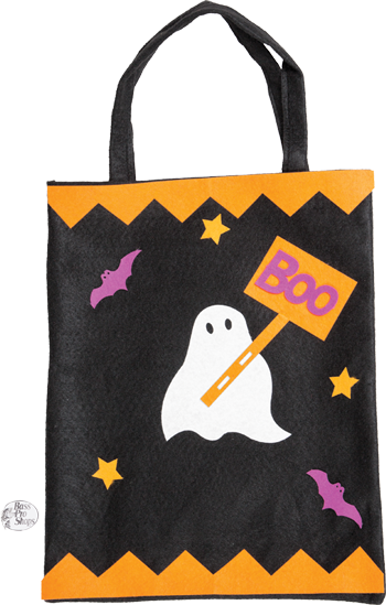 decorate a trick-or-treat bag