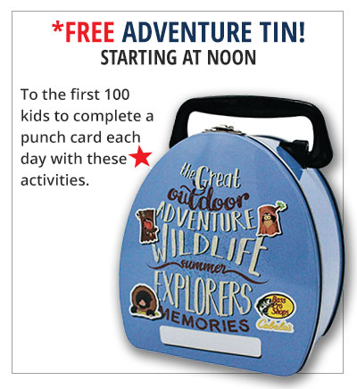FREE adventure tin
