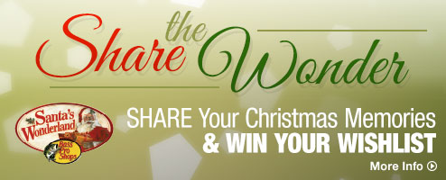 Share the Wonder! Share your Christmas Memories & Win Your Wish List - More Info