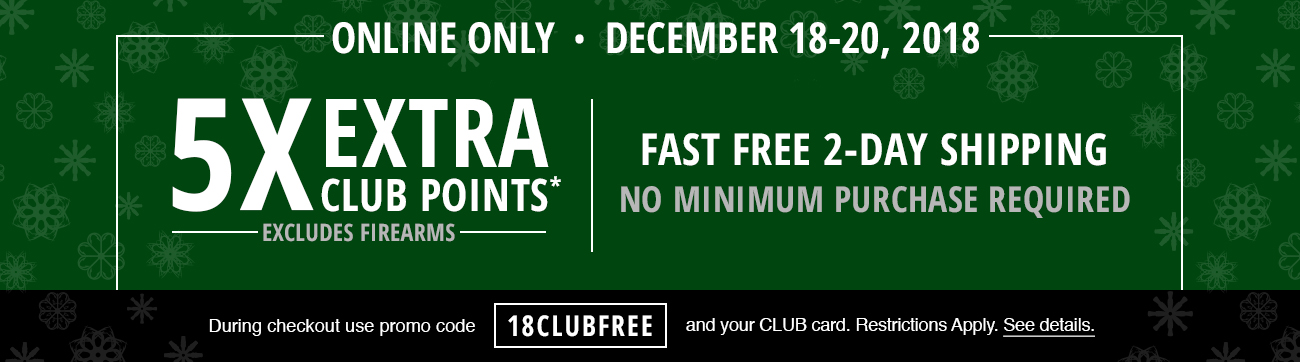 5X EXTRA CLUB POINTS on almost everything sitewide