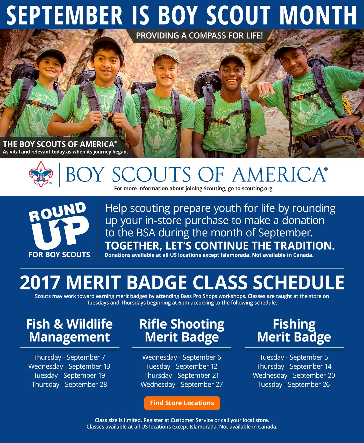 September Is Boy Scout Month - Find Store Locations