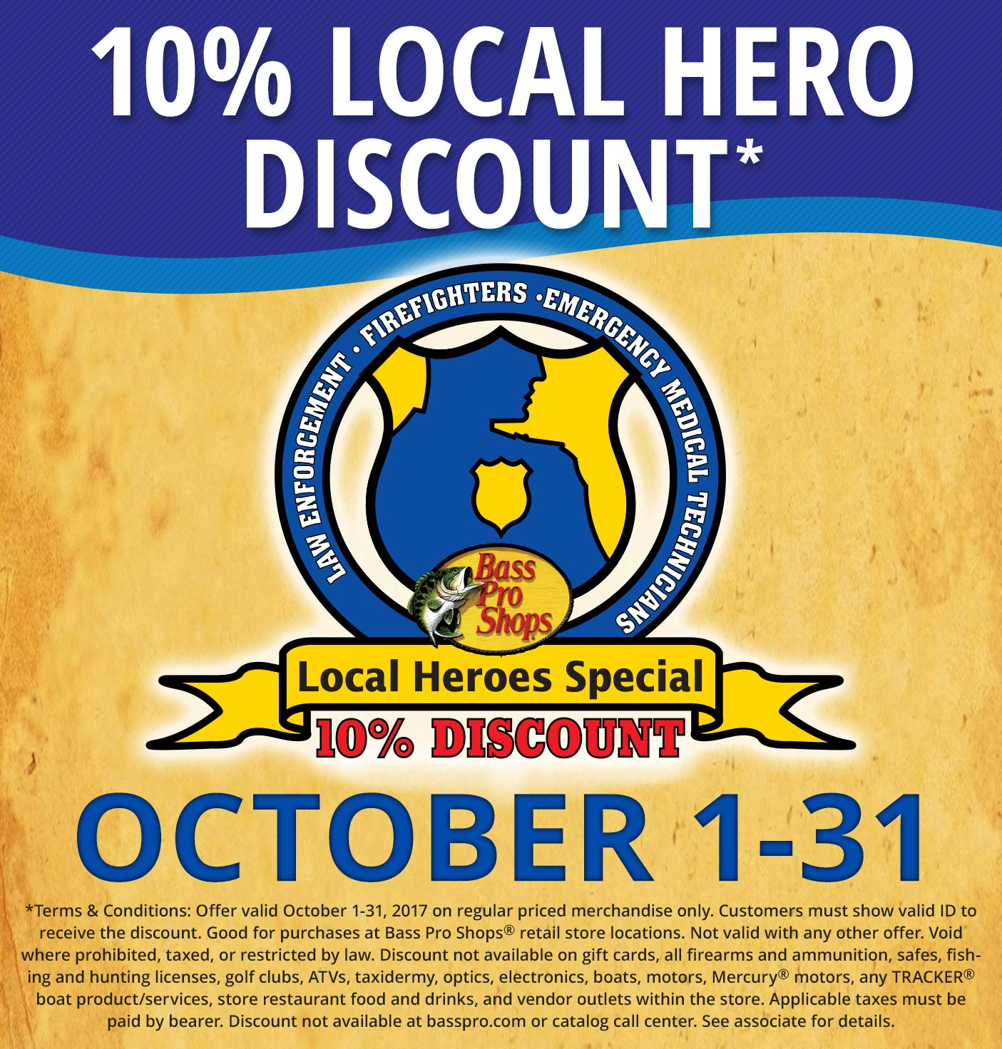 10% Local Hero Discount October 1-31