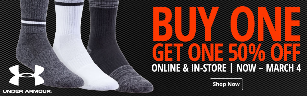 BOGO 50% Off Under Armour Socks - Shop Now