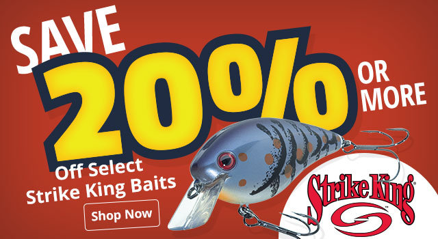 Save 20% or More Off Select Strike King Baits