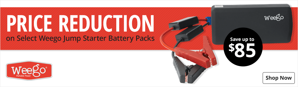 Price Reduction on Select Weego Jump Starter Battery Packs - Shop Now