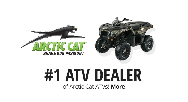 #1 ATV Dealer of Arctic Cat ATVs! - More