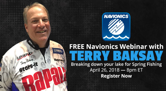 FREE Navionics Webinar with Terry Baksay, April 26, 2018 8:00pm ET - Register Now