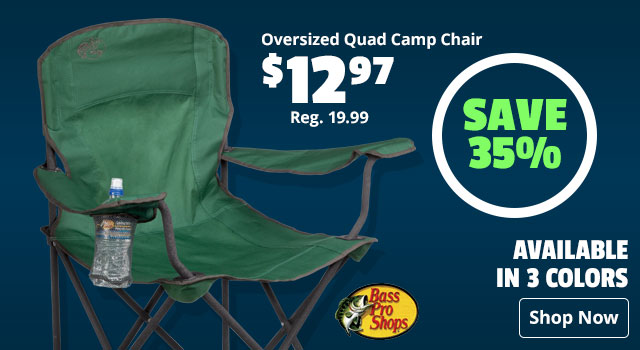 Save 35% on Bass Pro Shops Oversized Quad Camp Chair