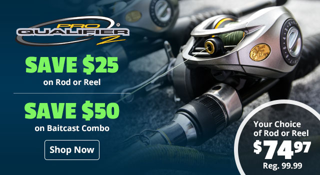 Save $50 on Pro Qualifier 2 Baitcast Combo