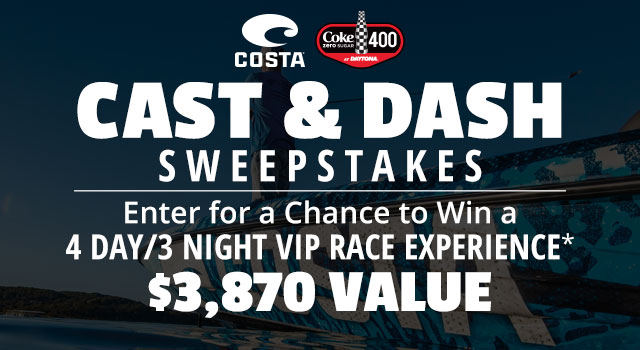Cast & Dash Sweepstakes, Enter for a Chance to Win a 4 Day/3 Night VIP Race Experience