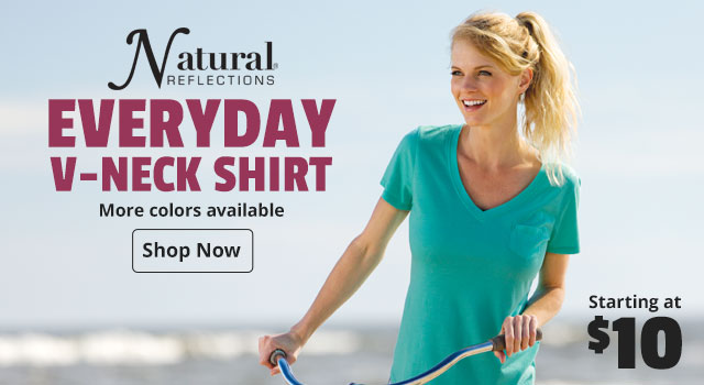 Natural Reflections Everyday V-Neck Shirt - Starting at $10
