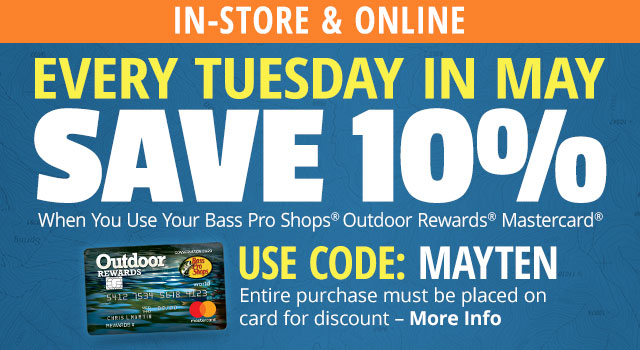 Save 10% Every Tuesday In May - More Info