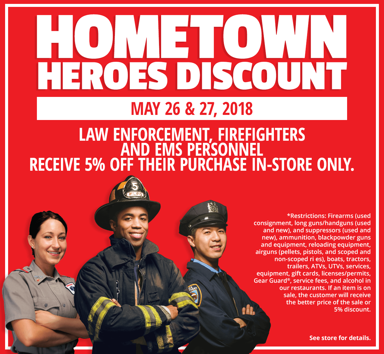 Hometown Heroes Discount