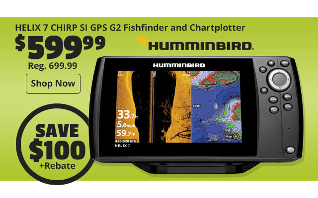 Humminbird HELIX 7 CHIRP SI GPS G2 Fishfinder and Chartplotter
