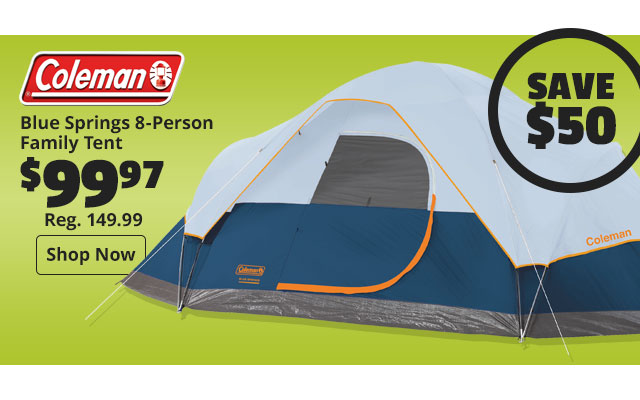 Coleman Blue Springs 8-Person Family Tent