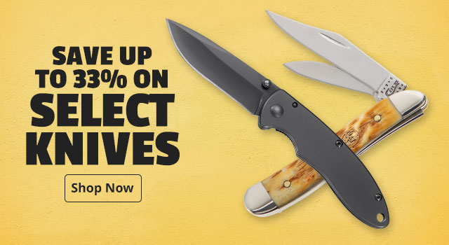 Save up to 33% On Select Knives