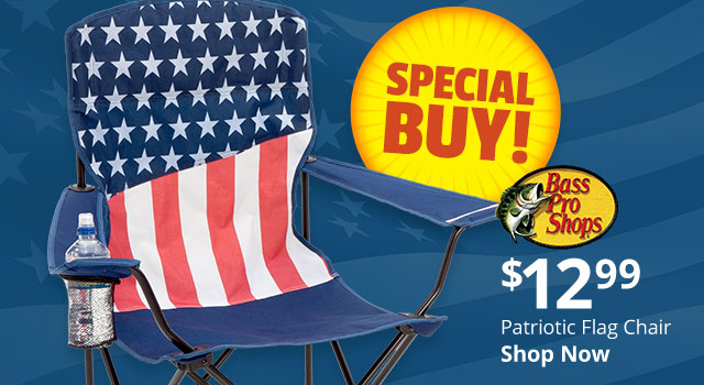 Bass Pro Shops Patriotic Flag Chair $12.99 - Shop Now