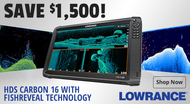 Save $1,500 on HDS Carbon 16 with FishReveal Technology - Shop Now
