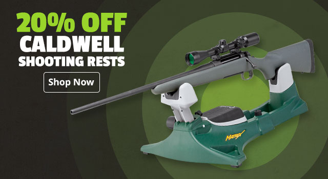 20% off Caldwell Shooting Rests