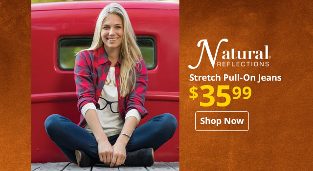 Natural Reflections Stretch Pull-On Jeans
