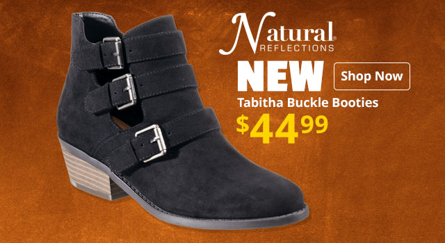 Natural Reflections Tabitha Buckle Booties
