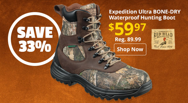 RedHead Expedition Ultra BONE-DRY Waterproof Hunting Boot