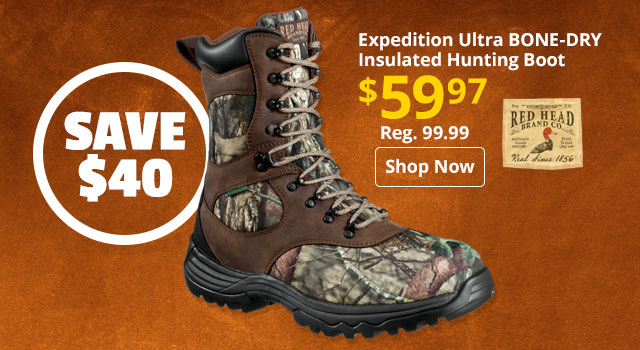 RedHead Expedition Ultra BONE-DRY Insulated Waterproof Hunting Boot