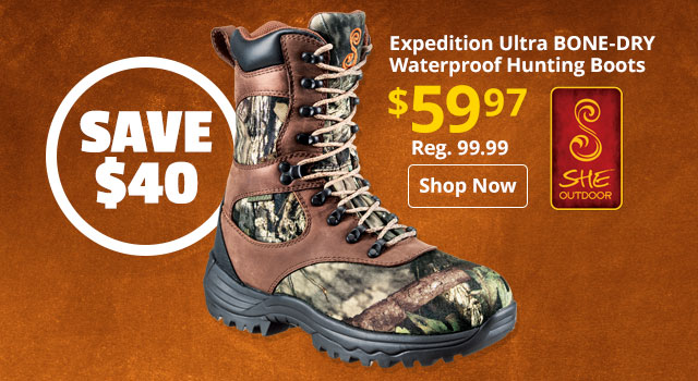 SHE Outdoor Expedition Ultra BONE-DRY Insulated Waterproof Hunting Boot
