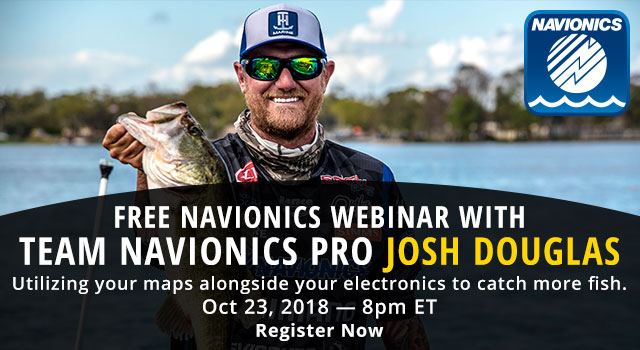 FREE Navionics Webinar with Team Navionics Pro Josh Douglas - Register Now