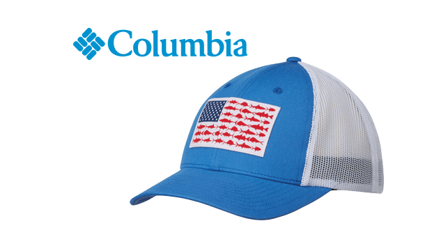 Columbia PFG Fish Flag Mesh Ballcap