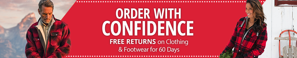 Free Returns on Clothing and Footwear