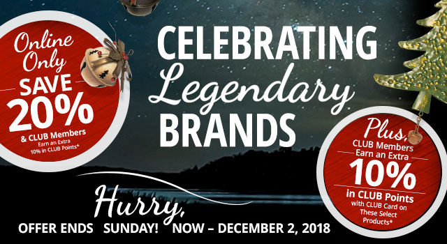Bass Pro Shops and Cabela's Legendary Brands Sale