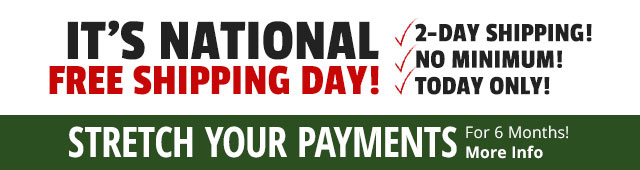 National Free Shipping Day - 2-day Shipping! No Minimum!