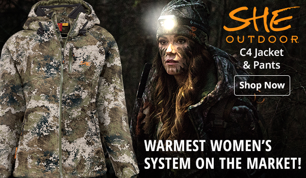 She C4 Jacket and Pants. Warmest Women's System on the Market