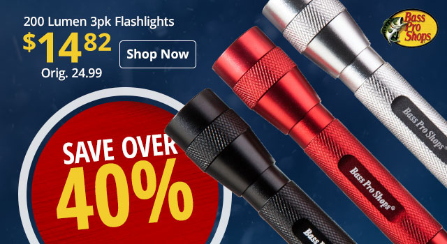 Bass Pro Shops 200 Lumen 3pk Flashlights