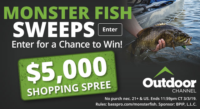 Monster Fish Sweeps, Enter for a chance to win a $5,000 Shopping Spree