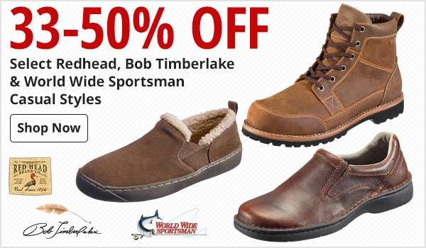 33-50% Off Select Redhead, Bob Timberlake & World Wid Sportsman Casual Styles