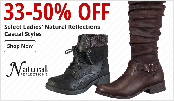 33-50% Off Select Ladies' Natural Reflections Casual Styles
