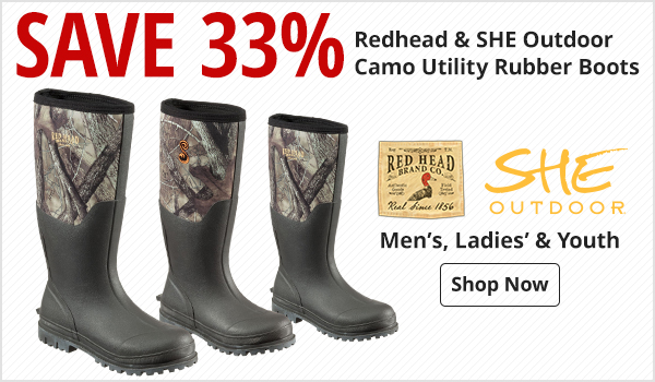 Save 33% on Camo Utility Rubber Boots