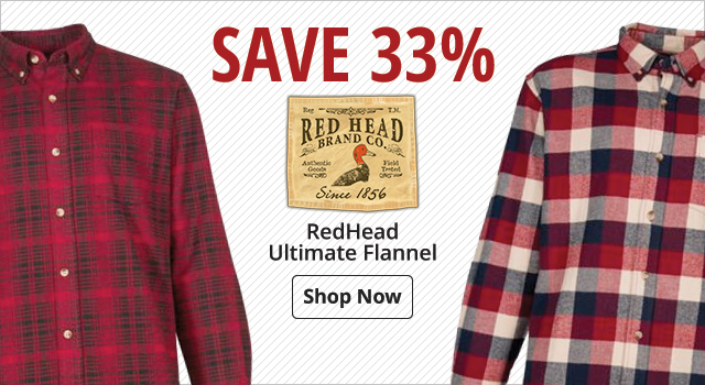 Save 33% Redhead Flannel - Shop Now