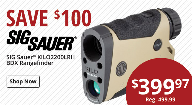 Save $100 Sig Sauer Rangefinder - Shop Now