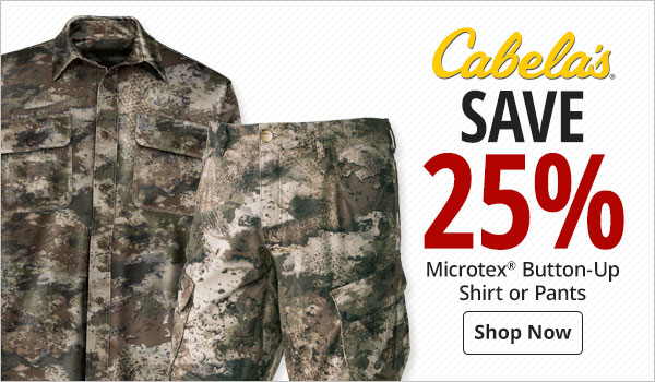 Cabela's Microtex Button-Up Shirt or Pants - Shop Now